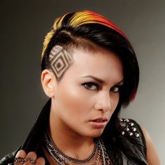 Fiery Hues and Hair Tattoos - Cut and Color how to