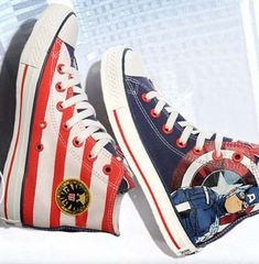 The Avengers Captain America Canvas Sneakers Painted Shoes for M,High-top Painted Canvas Shoes