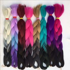 Cheap hair treatment, Buy Quality hair extension for braids directly from China hair color for black women Suppliers:            1piece 9color 24inch ombre two tone kanekalon jumbo braiding hair                High temperature wire black