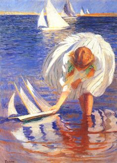 Edmund Tarbel - girl with sailboat 1899