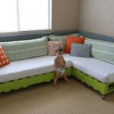 Would be a great idea for a reading corner in a room. Or a small sectional couch.