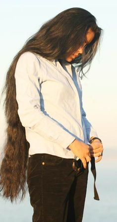 I already have waist length hair but this is hair length that I am aiming at :)