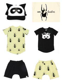 Beau Loves SS15: Kids T-shirt Ants - black combo / CozyKidz.net