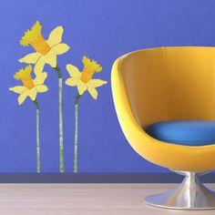 Daffodil wall decals, My Wonderful Walls. $34.95.