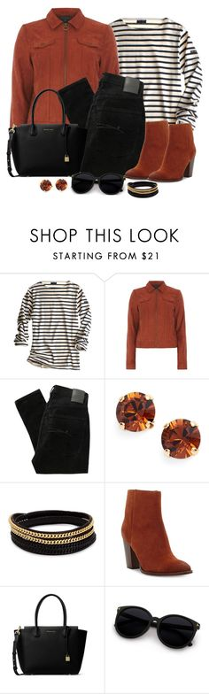 """""""Untitled #1295"""" by gallant81 ❤ liked on Polyvore featuring St James, Dorothy Perkins, Nobody Denim, L. Erickson, Vita Fede, Sam Edelman and MICHAEL Michael Kors"""
