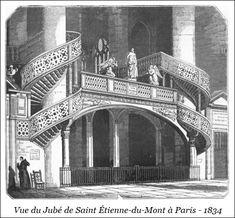 Vue du Jubé de Saint Étienne-du-Mont à Paris – 1834 | Bibliotec – À la française … 2