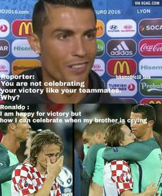 He is Cristiano Ronaldo. hate him but only a true fan knows how Humble he is Memes Ronaldo, Cristiano Ronaldo Quotes, Cristano Ronaldo, Cristiano Ronaldo Juventus, Lionel Messi, Messi Vs, Football Is Life, Football Memes, College Football