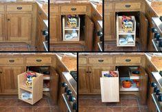 storage solutions for corner kitchen cabinets | Kitchen Cabinet Ideas