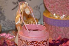 candlestick and ribbon