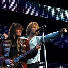 Richie Sambora & Jon Bon Jovi - They've seen a million faces, and they've rocked them all! (actually more like 120 million, but who's counting? ) @bonjovi_insiders   Instagram. #comebackrichie #bonjoviforhalloffame