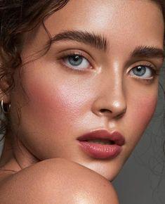 Natural flushed makeup look.Subtle glow.