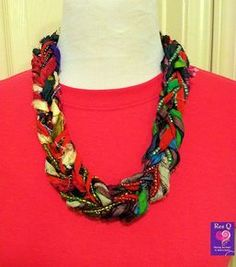 Recycled Sari Ribbon Necklaces - A. Mage Designs