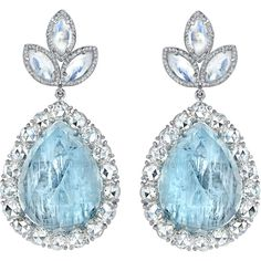 Perfection. Irene Neuwirth Fine Aquamarine & Diamond Earrings  These stunners! The teardrop shape- UGH LOVEEEE. the aquamarine and diamond complement each other so well!