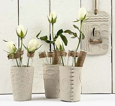 11311 Vases of self-hardening clay