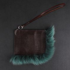Ever want something just cuz? That would be this. Kite Fur Trim Clutch Bag. Not sure if I can justify a $ 300 fox fur trimmed, oversized wallet, but I may try! #splurge