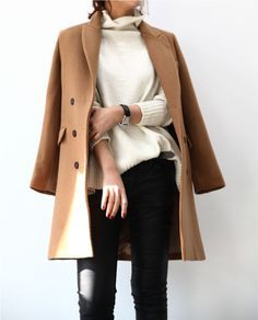 The camel coat — a classic Fall favorite.