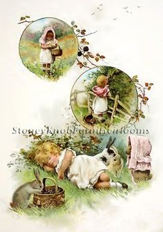 A Summer Morning ~ Harriet Bennet, Children ~ Counted X Cross Stitch Pattern #StoneyKnobFarmHeirlooms #CountedCrossStitch