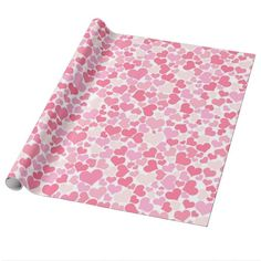 Pink Hearts Pattern Valentine's Day Wrapping Paper