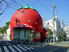 Sanrio Strawberry House Tokyo by kbo, via Flickr