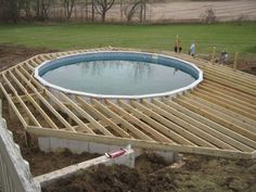 Ideas Of Above Ground Pool Deck Plans