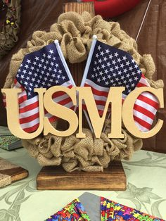 USMC wreath, USMC, USMC decor, marine corps wreath, https://www.etsy.com/listing/294823429/usmc-wreath-marine-corps-wreath-burlap