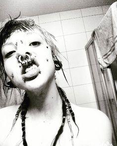 Depressed #crustpunk #crustgirl #piercedgirl #pierced #ink #blackandwhite Crust Punk, Septum, Tankini, Ink, Depressed, Artwork, Instagram, Work Of Art, Auguste Rodin Artwork
