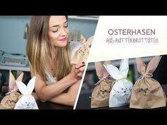 DIY: Osterhasen aus Butterbrottüten/ Osternest - YouTube