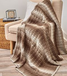 How To Crochet A Shaded Shells Throw