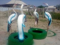 Tired Animals, Tire Art, Flower Planters, Garden Art, Diy And Crafts, Recycling, Outdoor, Recycling Ideas, Recycle Tires