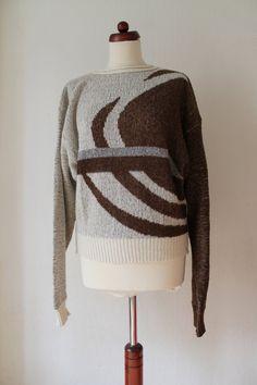 Vintage Sweater  1980's Wool Sweater with von PaperdollVintageShop, €24,90
