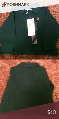 Ralph Lauren Infants Long Sleeve Polo Brand new with tags hunter green infants polo. Size 3M Ralph Lauren Shirts & Tops Polos