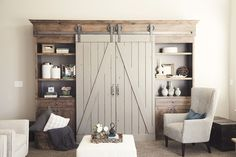 Murphy bed behind the sliders Vintage Strap hardware kit $245. Sliding Door Hardware by NW Artisan Hardware