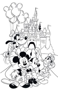 695 Best Disney Coloring Pages Images