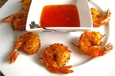 Coconut Shrimp with Apricot Sweet Chili Dipping Sauce Recipe on Closet Cooking Copycat Recipes, Sauce Recipes, Fish Recipes, Seafood Recipes, Appetizer Recipes, Cooking Recipes, Appetizers, Restaurant Recipes, Yummy Recipes