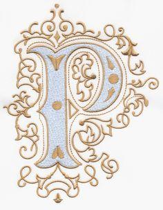 Vintage Royal Alphabet & Accent Designs ...P