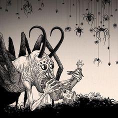 The Spiderking #monsters #spiders #spiderking #johnkennmortensen #donkenn…