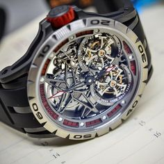 #roger_dubuis #excalibur #spider #doubletourbillon  Wear a concept watch on your wrist  #watchoftheday #watchporn #tourbillon #miami #luxury #luxurylife #luxurylifestyle #luxury4play #luxurywatch #hautehorlogerie #hautehorology #exclusive #pieceofart by miami_rogerdubuis