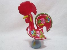 Ceramic Rooster Portugal Barcelos Hand Painted