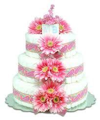 Pink daisy cake