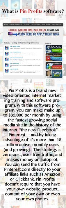 What is Pin Profits software?   #makemoney #makemoneyonline #socialmediamarketing #makemoneywithpinterest