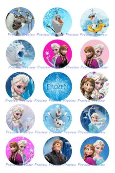 Frozen Disney Images Elsa Anna Olaf Princess by HerEtsyShop, $1.25