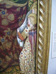 Gentile da Fabriano - Incoronazione della Vergine, dettaglio - stendardo processionale (verso) - tempera e oro - 1420 circa - Getty Center, Los Angeles.