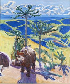 Gallen-Kallela is said to have painted a large number of compact, brightly coloured and expressive works during his sojourn in Kenya, a country in which he is said to have 'rediscovered the joy of painting' Nordic Art, Scandinavian Art, Chur, New Artists, Great Artists, The Joy Of Painting, Life Paint, Canadian Art, Colorful Paintings