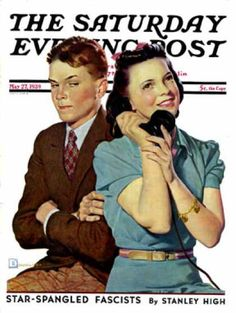Phone Call from Another Suitor, Saturday Evening Post, 1939-05-27  // Douglas Crockwell)