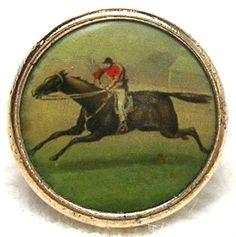 Antique Waistcoat Riding Button