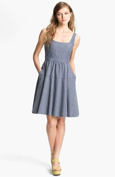 MARC BY MARC JACOBS 'Dotty' Cotton Fit & Flare Dress