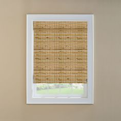 @ Lowes - Levolor Natural Bamboo Light Filtering Woven Natural Roman Shade (Common: 24-in; Actual: 23.5-in x 60-in)