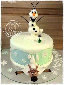 CHEIRINHO DE COISA BOA - Bolos decorados em Campinas SP: Bolo Frozen - Olaf e Sven