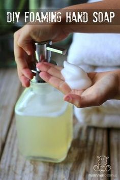 Unlike most hand soaps that contain hormone disrupting chemicals, this DIY foaming hand soap is made with just two simple, wholesome ingredients. (Three if you decide to add an essential oil for scent.)