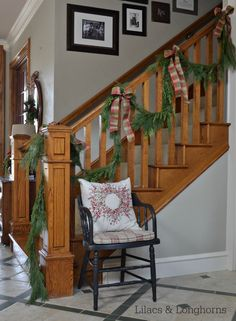 Christmas stairway